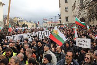 bulgaristanda her yerde eylem var