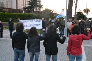 ankaradaki saldiri protesto edildi