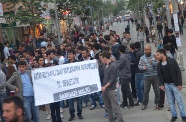 sarigazide halk katliami protesto etti