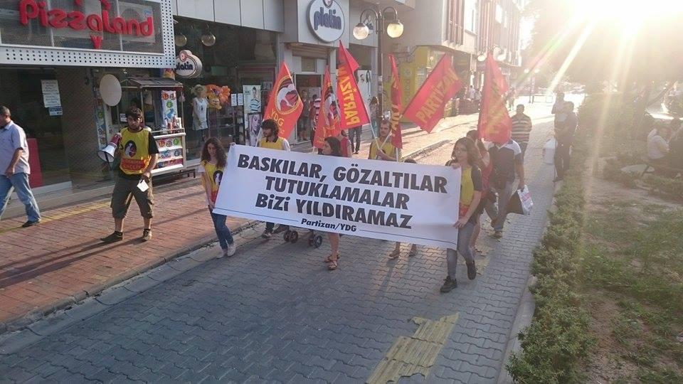 Partizan baskılar gözaltılar bizi yıldıramaz