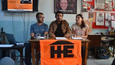 İzmir Halkevi basın toplantısı