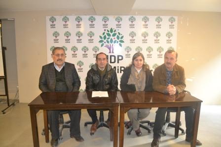 HDP İzmir basın toplantısı