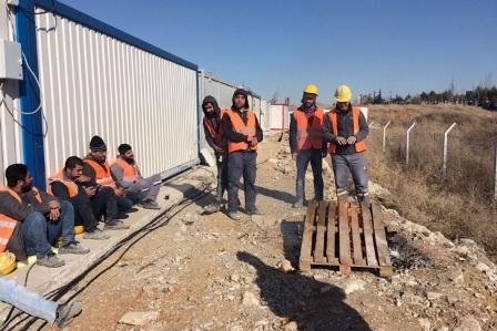 Bilkent Şehir Hastanesi inşaatında işçiler iş bıraktı