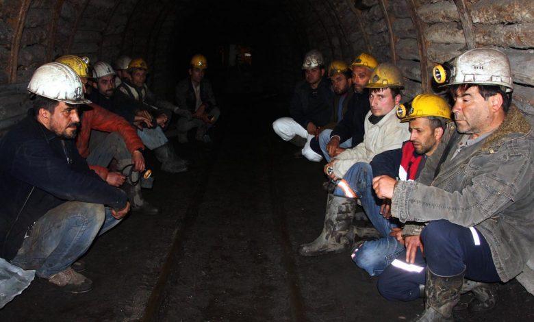 maden iscilerinin ocaktan cikmama eylemi suruyo