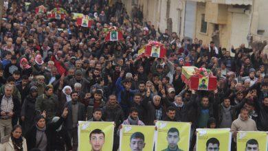 Efrîn Direnişi şehitleri görkemli törenle toprağa verildi