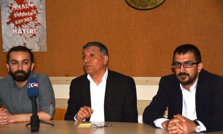 basın meslek örgütlerinden gun matbaasının çalışanlarının ve özgürlükçü demokrasi gazxetesinin çalışanlarının gözaltına alınmasına ilişkin basın toplnatısıı düzenlendi